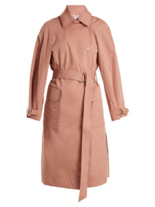 Elizabeth And James - Weston Tie-Waist Cotton-Blend Trench Coat