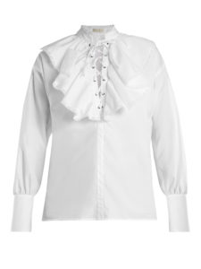 Etro - Anet Fluted-Bib Cotton Blouse