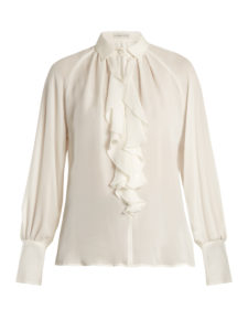 Etro - Villandry Ruffled Silk Shirt