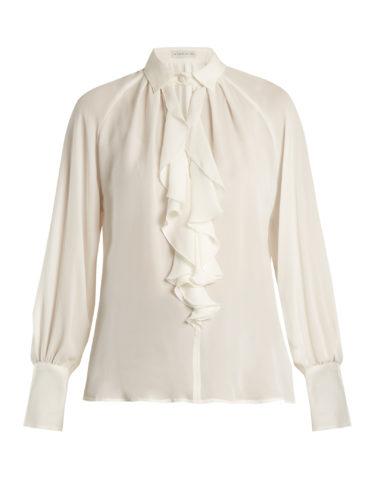 Etro - Villandry Ruffled Silk Shirt