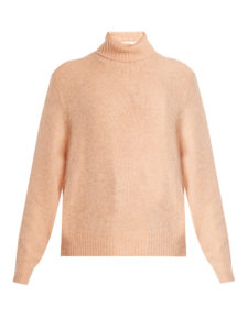 Frame - Roll-Neck Brushed-Knit Sweater