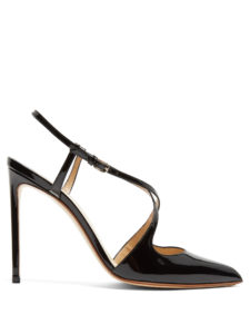 Francesco Russo - Cross-Strap Patent-Leather Pumps