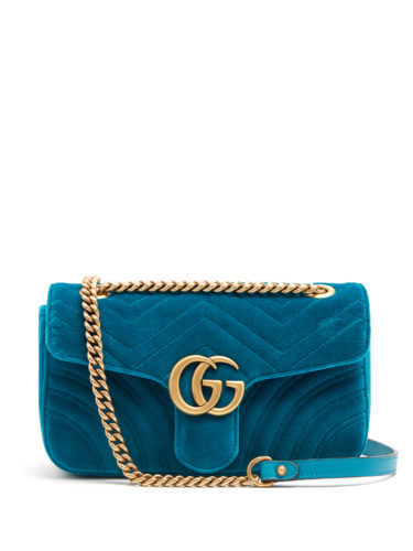 Gucci - Gg Marmont Small Quilted-Velvet Cross-Body Bag