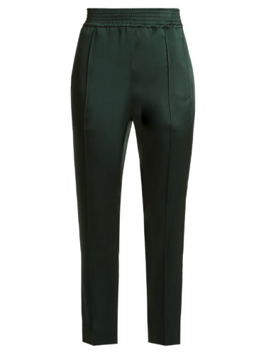 Haider Ackermann - Kuiper High-Rise Slim-Leg Satin Cropped Trousers