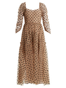 Isa Arfen - Ethereal Polka-Dot Tulle Dress