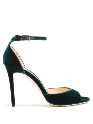 Jimmy Choo - Annie 100Mm Crushed-Velvet Sandals