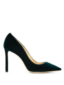 Jimmy Choo - Romy 100Mm Velvet Pumps