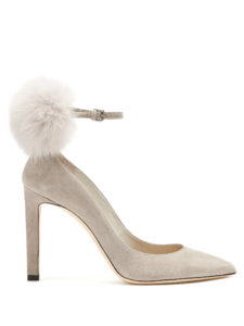 Jimmy Choo - South 100Mm Fox-Fur Embellished Suede Pumps