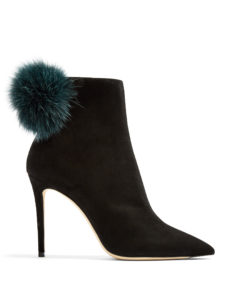 Jimmy Choo - Tesler 100Mm Fox-Fur Embellished Suede Ankle Boots