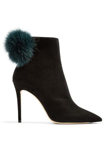 Jimmy Choo - Tesler 100Mm Fox-Fur Embellished Suede Ankle Boots