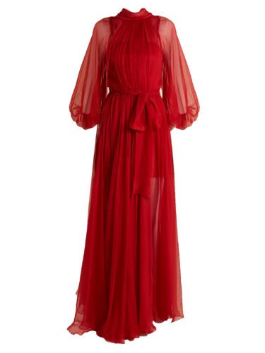 Maria Lucia Hohan - Adeola Tie-Waist Silk-Mousseline Gown