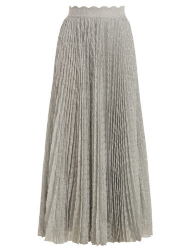 Missoni - Pleated Geometric-Knit Midi Skirt
