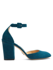 Paul Andrew - Bastioni Block-Heel Suede Pumps