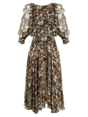 Preen By Thornton Bregazzi - Emiliana Floral-Print Silk-Georgette Dress