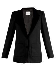 Racil - Yorkshire Contrast-Lapel Wool Blazer