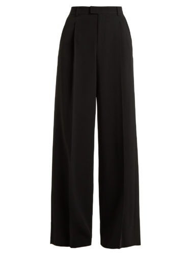 Red Valentino - Wide-Leg High-Rise Crepe Trousers
