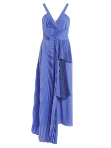 Rochas - Draped-Front Pleated Silk Crepe De Chine Dress