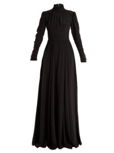 Rochas - High-Neck Silk Gown