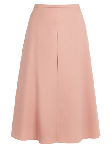 Rochas - Inverted-Pleat A-Line Wool Skirt