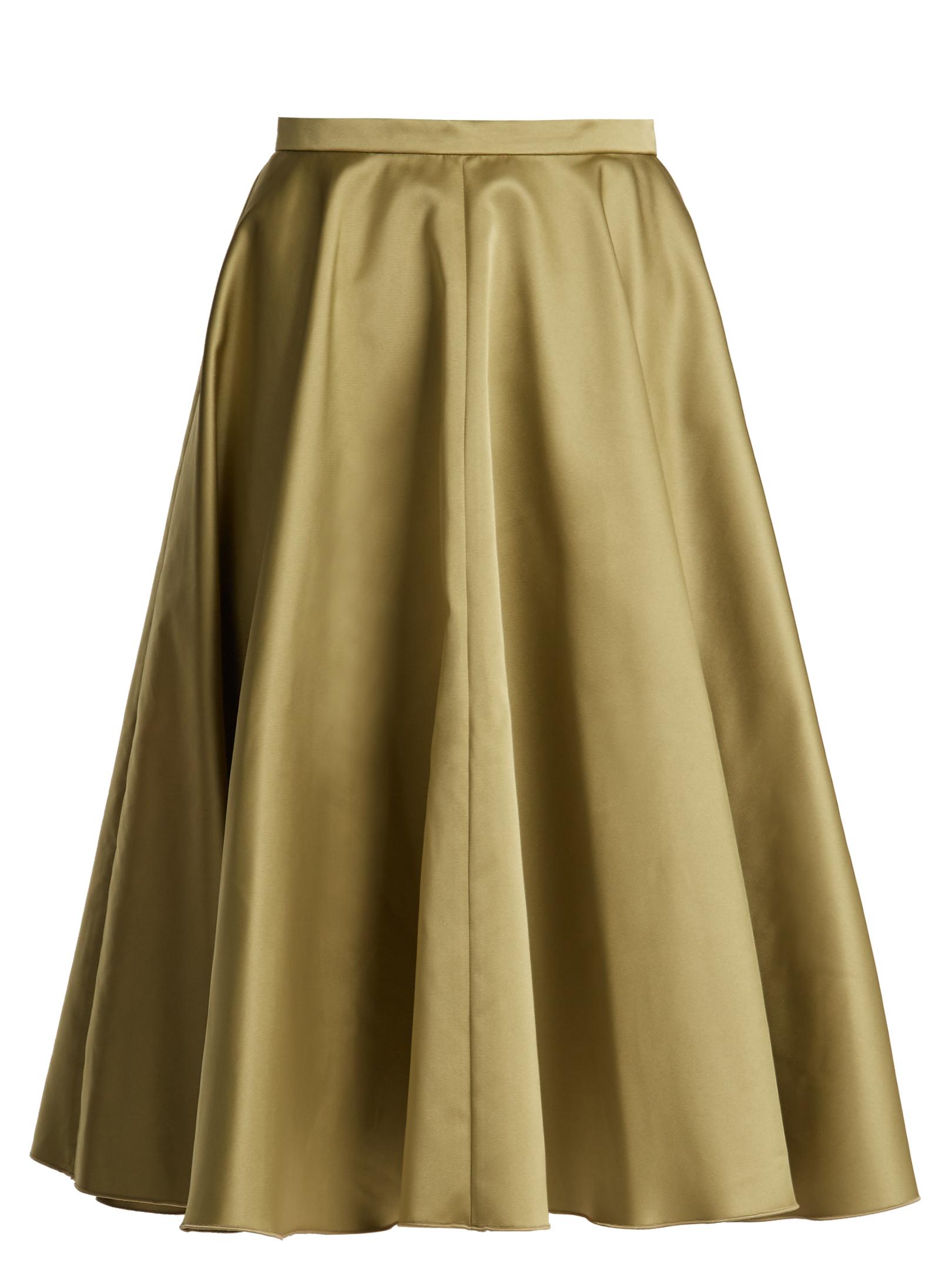 3c2d6633d3 Rochas - Pleated Duchess-Satin Midi Skirt | FASHION STYLE FAN