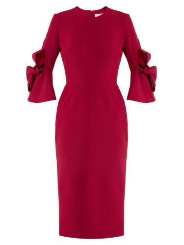 Roksanda - Lavete Bow-Sleeved Crepe Dress