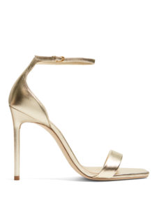 Saint Laurent - Amber Metallic-Leather Sandals