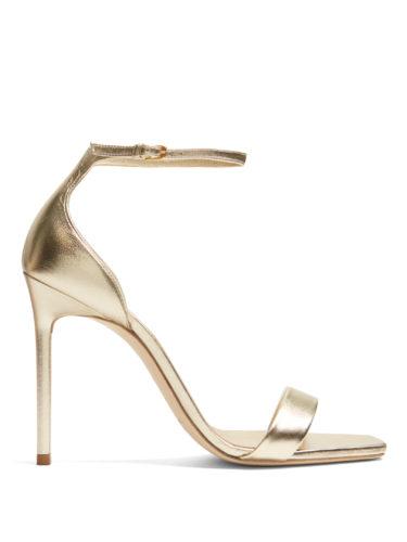 Saint Laurent - Amber Metallic-Leather Sandals