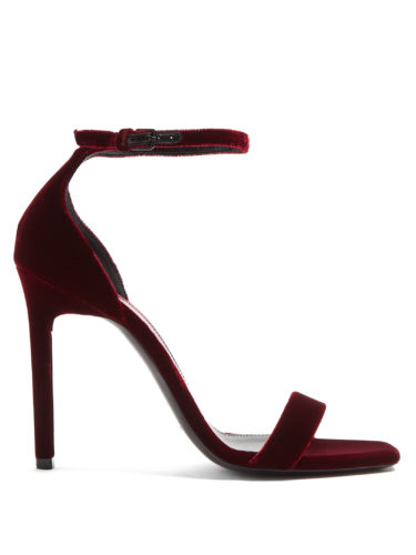 Saint Laurent - Amber Velvet Sandals