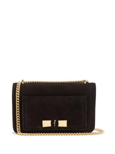 Salvatore Ferragamo - Ginevra Nubuck-Leather Shoulder Bag