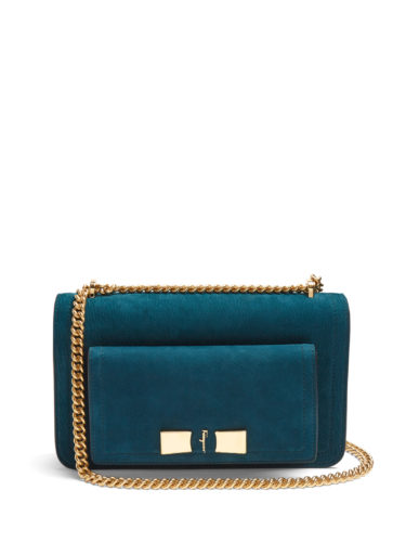 Salvatore Ferragamo - Ginevra Nubuck-Leather Shoulder Bag