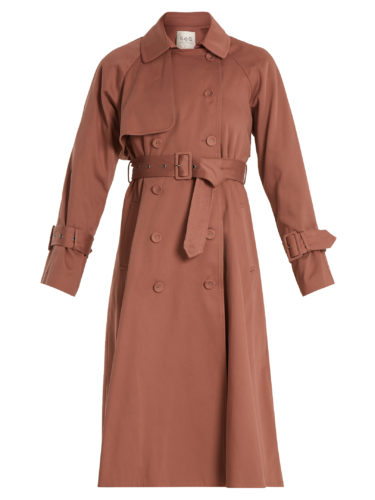 Sea - Belted Cotton Double-Breasted Trench Coat