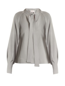 See By Chloé - Tie-Neck Crepe Blouse