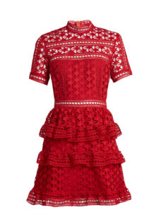 Self-Portrait - Star Guipure-Lace Mini Dress