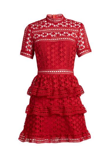 Self-Portrait - Star Guipure-Lace Mini Dress