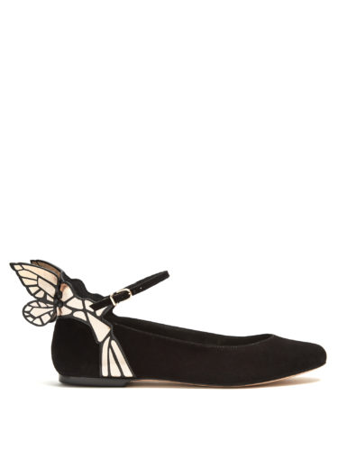 Sophia Webster - Chiara Butterfly-Wing Suede Ballet Flats