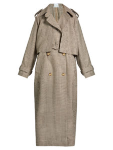 Stella Mccartney - Cecile Oversized Hound'S-Tooth Wool Trench Coat