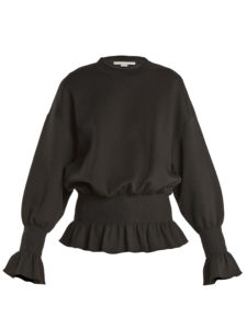 Stella Mccartney - Ruffle-Trimmed Cotton-Blend Sweatshirt