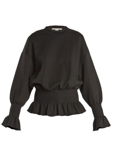 Stella Mccartney - Ruffle-Trimmed Cotton-Blend Sweatshirt