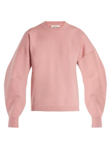 Tibi - Lantern-Sleeved Wool-Blend Sweater