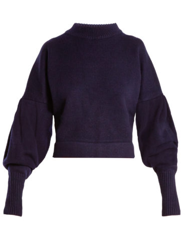 Tibi - Pleated-Sleeve Cashmere Sweater