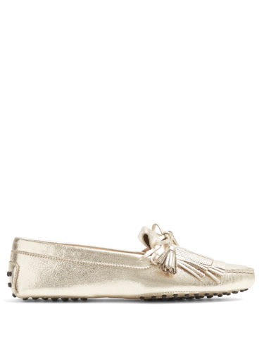 Tod'S - Gommino Fringed And Tassel Leather Loafers