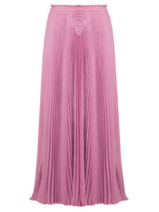 Valentino - High-Rise Pleated Silk-Crepe Midi Skirt