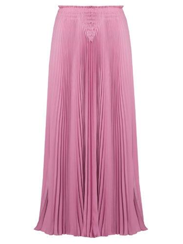 Valentino - High-Rise Pleated Silk-Crepe Midi Skirt