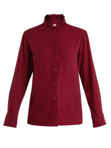 Vanessa Bruno - Hemma High-Neck Crepe Blouse