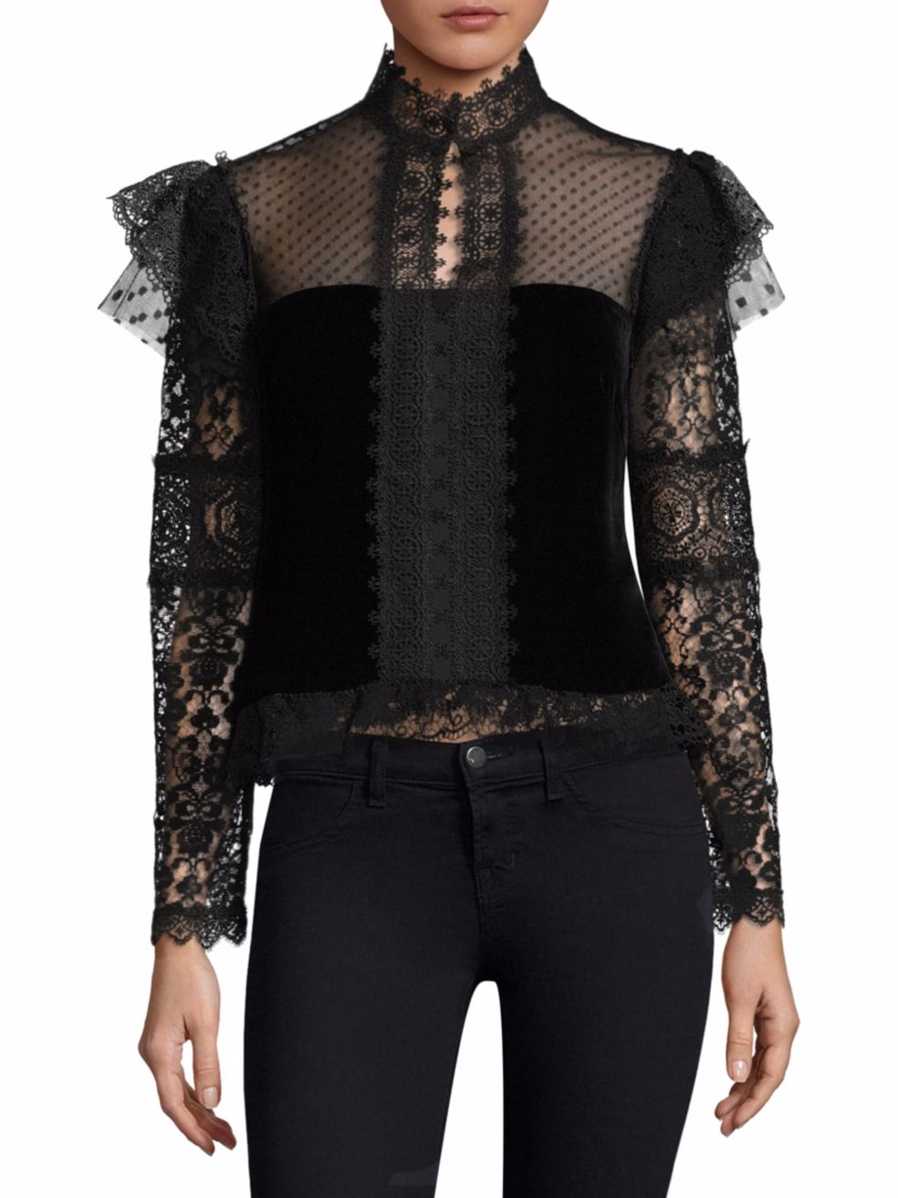 Nanette Lepore - Belle Epoque Blouse - Black