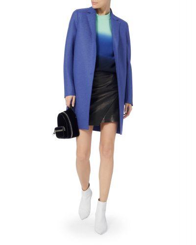 Harris Wharf - Cocoon Coat - Blue 2