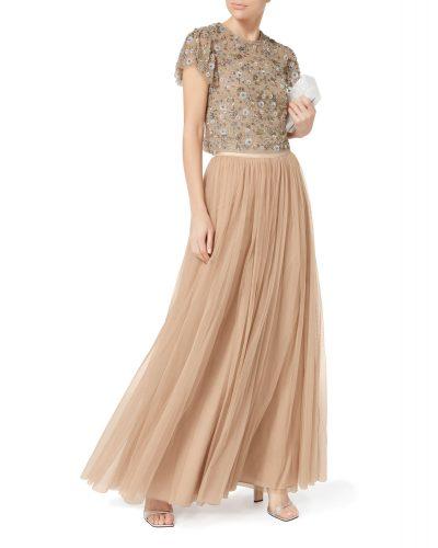 Needle & Thread - Tulle Maxi Skirt - Pink