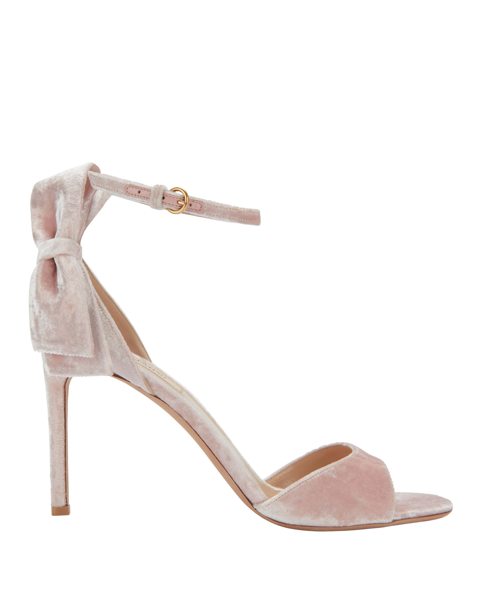 426f4e141b67 Valentino - Velvet Sandals with Bow - Pink