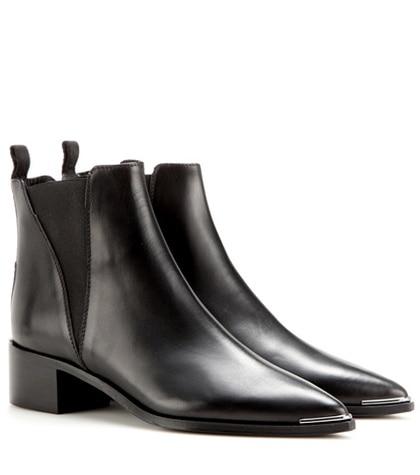 Acne Studios - Jensen Leather Ankle Boots - Black