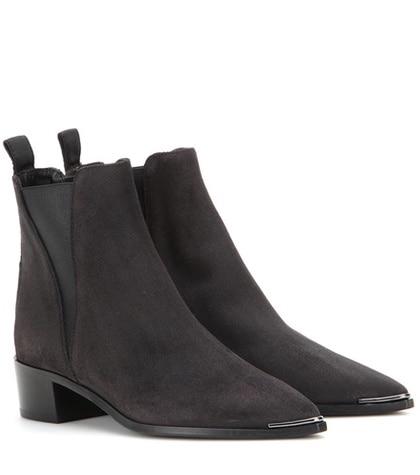 Acne Studios - Jensen Suede Ankle Boots - Black